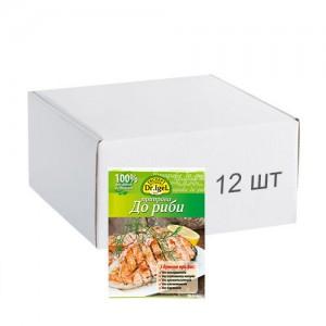Упаковка приправи Dr.IgeL до риби 20 г х 12 шт