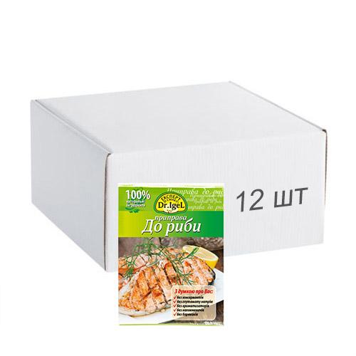 Упаковка приправы Dr.IgeL к рыбе 20 г х 12 шт