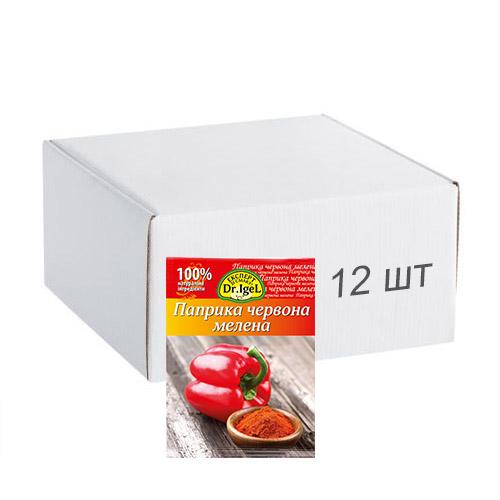 Упаковка паприки Dr.IgeL красная молотая 15 г х 12 шт