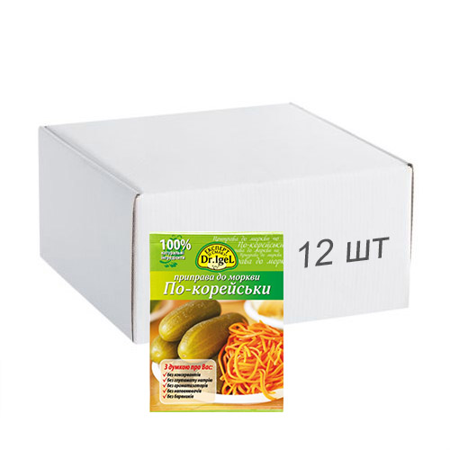 Упаковка приправы Dr.IgeL к корейской моркови 20 г х 12 шт