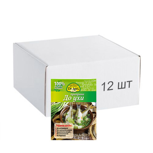 Упаковка приправы Dr.IgeL к ухе 20 г х 12 шт