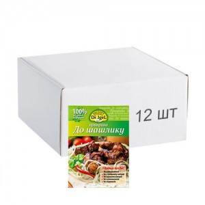 Упаковка приправи Dr.IgeL до шашлику 20 г х 12 шт
